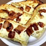 Garlic Bread with Cheese and Bacon